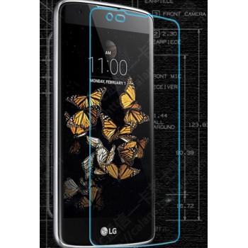 Ультратонкое износоустойчивое сколостойкое олеофобное защитное стекло-пленка для LG K8