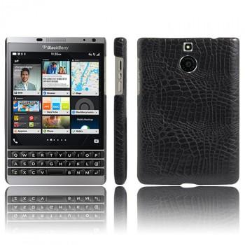 Чехол накладка текстурная отделка Кожа для BlackBerry Passport Silver Edition
