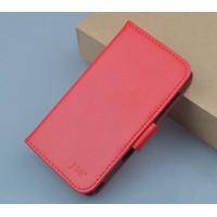 Чехол портмоне подставка на силиконовой основе на магнитной защелке для Wileyfox Swift  Красный