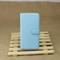 Чехол портмоне подставка на магнитной защелке и отсеком для карт для Google LG Nexus 5 Голубой