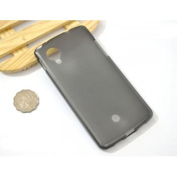 Силиконовый матовый полупрозрачный чехол для Google LG Nexus 5
