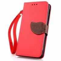 Чехол портмоне подставка на силиконовой основе на дизайнерской магнитной защелке для Google LG Nexus 5  Красный
