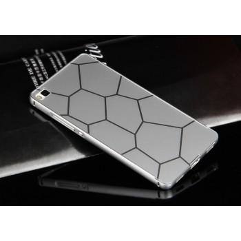 Двухкомпонентный чехол c металлическим бампером с поликарбонатной накладкой и текстурным покрытием Металл для Huawei P8 Lite