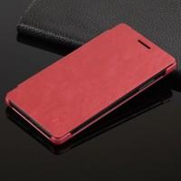 Чехол горизонтальная книжка на пластиковой основе для Huawei P8 Lite Красный