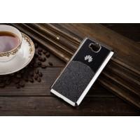 Силиконовый матовый непрозрачный дизайнерский фигурный чехол с текстурным покрытием Металлик для Huawei Honor 4C Pro