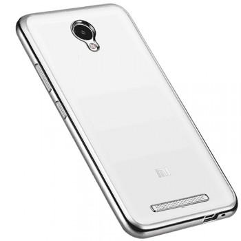 Силиконовый матовый полупрозрачный дизайнерский фигурный чехол с текстурным покрытием Металлик для Xiaomi RedMi Note 2