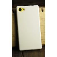Силиконовый глянцевый непрозрачный чехол для Sony Xperia Z5 Compact  Белый