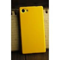 Силиконовый глянцевый непрозрачный чехол для Sony Xperia Z5 Compact  Желтый