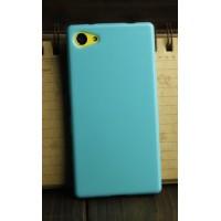 Силиконовый глянцевый непрозрачный чехол для Sony Xperia Z5 Compact  Голубой