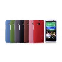 Пластиковый непрозрачный матовый чехол с повышенной шероховатостью для HTC One (M8)