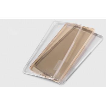 Силиконовый матовый полупрозрачный чехол с улучшенной защитой элементов корпуса (заглушки) для Sony Xperia M5