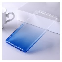 Силиконовый матовый полупрозрачный градиентный чехол для Sony Xperia M5  Синий