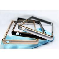 Металлический округлый бампер на пряжке с золотой окантовкой для Sony Xperia M5