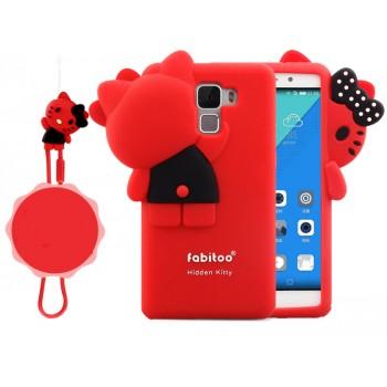 Силиконовый матовый непрозрачный дизайнерский фигурный чехол для Huawei Honor 7