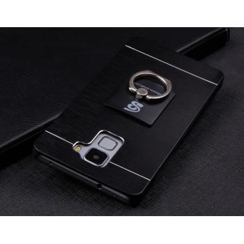 Пластиковый непрозрачный матовый чехол с текстурным покрытием Металл для Huawei Honor 7