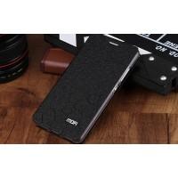 Чехол горизонтальная книжка подставка текстура Соты на силиконовой основе для Huawei Honor 7 Черный