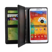 Чехол флип подставка на пластиковой основе с отсеком для карт для Samsung Galaxy Note 3