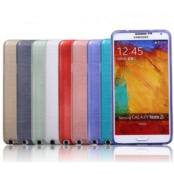 Силиконовый матовый полупрозрачный чехол металлик для Samsung Galaxy Note 3