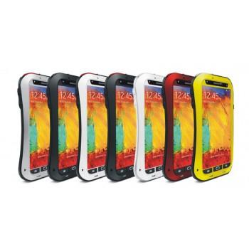Эксклюзивный многомодульный ультрапротекторный пылевлагозащищенный ударостойкий нескользящий чехол алюминиево-цинковый сплав/силиконовый полимер с закаленным защитным стеклом для Samsung Galaxy Note 3