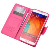 Чехол портмоне подставка на силиконовой основе на магнитной защелке для Samsung Galaxy Note 3