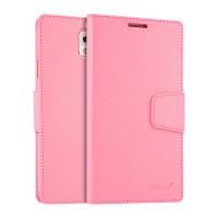 Чехол портмоне подставка на силиконовой основе на магнитной защелке для Samsung Galaxy Note 3  Розовый