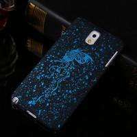 Пластиковый непрозрачный матовый чехол с голографическим принтом Звезды для Samsung Galaxy Note 3