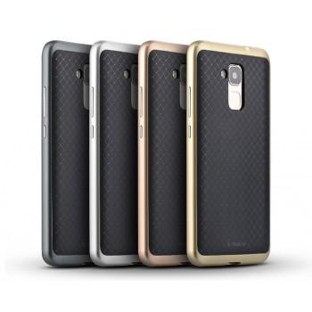 Двухкомпонентный силиконовый матовый непрозрачный чехол с нескользящими гранями и поликарбонатным бампером для Huawei Honor 5C