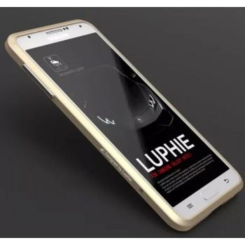 Металлический округлый премиум бампер сборного типа на винтах для Samsung Galaxy Note 3