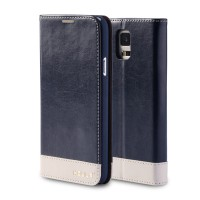 Глянцевый водоотталкивающий чехол портмоне подставка на пластиковой основе для Samsung Galaxy Note 3