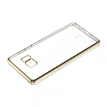 Силиконовый матовый полупрозрачный чехол текстура Металлик для Samsung Galaxy Note 7