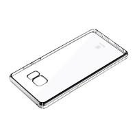 Силиконовый матовый полупрозрачный чехол текстура Металлик для Samsung Galaxy Note 7  Белый