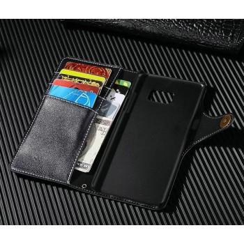 Чехол портмоне на пластиковой основе на дизайнерской магнитной защелке для Samsung Galaxy Note 7