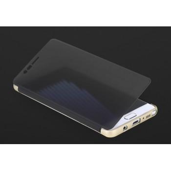 Пластиковый непрозрачный матовый чехол с полупрозрачной крышкой с зеркальным покрытием для Samsung Galaxy Note 7