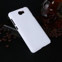 Пластиковый непрозрачный матовый чехол для Huawei Honor 5A/Y5 II Белый