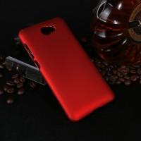 Пластиковый непрозрачный матовый чехол для Huawei Honor 5A/Y5 II Красный