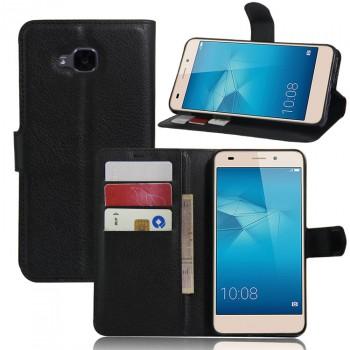 Чехол портмоне подставка на силиконовой основе на магнитной защелке без отверстия для датчика отпечатка пальца для Huawei Honor 5C