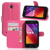 Чехол портмоне подставка на силиконовой основе на магнитной защелке для ASUS ZenFone Go 4.5  Пурпурный