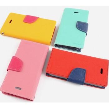Чехол портмоне подставка на силиконовой основе на дизайнерской магнитной защелке для Samsung Galaxy Note 3