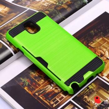 Противоударный двухкомпонентный силиконовый матовый непрозрачный чехол с поликарбонатными вставками экстрим защиты для Samsung Galaxy Note 3