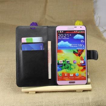 Чехол портмоне подставка на пластиковой основе на магнитной защелке для Samsung Galaxy Note 3