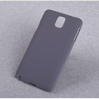 Пластиковый непрозрачный матовый чехол с повышенной шероховатостью для Samsung Galaxy Note 3