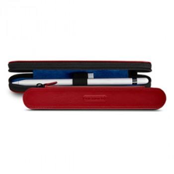 Кожаный жесткий футляр (нат. кожа) для Apple Pencil на молнии