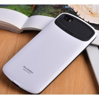 Силиконовый глянцевый непрозрачный чехол для Xiaomi MI5  Белый