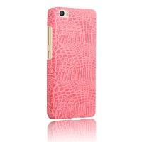Чехол накладка текстурная отделка Кожа для Xiaomi MI5  Розовый
