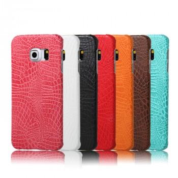 Чехол накладка текстурная отделка Кожа для Samsung Galaxy S6 Edge