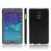 Чехол накладка текстурная отделка Кожа для Samsung Galaxy Note Edge  Черный