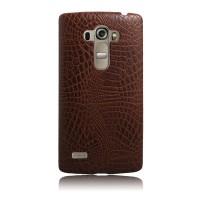 Чехол накладка текстурная отделка Кожа для LG G4 S  Коричневый