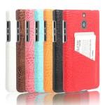 Чехол накладка текстурная отделка Кожа с отсеком для карт для BlackBerry Passport Silver Edition