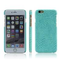 Чехол накладка текстурная отделка Кожа для Iphone 6/6s  Голубой