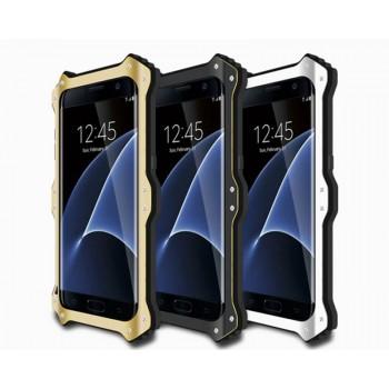Эксклюзивный многомодульный ультрапротекторный пылевлагозащищенный ударостойкий нескользящий чехол алюминиево-цинковый сплав/силиконовый полимер для Samsung Galaxy S7 Edge